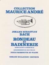 Rondeau Et Badinerie BACH Partition Trompette - laflutedepan.com