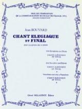Chant Elégiaque Et Final Jean Bouvard Partition laflutedepan.com