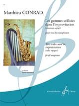 Matthieu Conrad - Les Gammes Utilisées dans L'improvisation - Partition - di-arezzo.fr