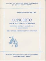Francis-Paul Demillac - Concerto for Saxophone Suite - Sheet Music - di-arezzo.com