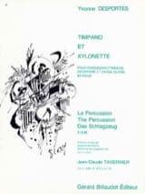 Timpano Et Xylonette Yvonne Desportes Partition laflutedepan.com