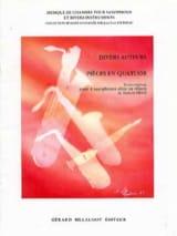 Pièces En Quatuor Partition Saxophone - laflutedepan.com