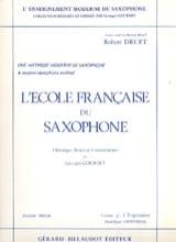 Robert Druet - Ecole Francaise Du Saxophone Volume 3 - Expression - Partition - di-arezzo.fr