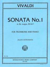 Sonata N° 1 Si bémol Majeur VIVALDI Partition laflutedepan.com
