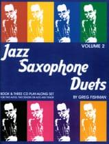 Jazz Saxophone Duets - Volume 2 Greg Fishman Partition laflutedepan