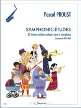 Symphonic-études Pascal Proust Partition Saxophone - laflutedepan