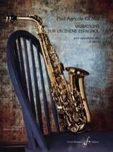 Paul Agricol Genin - Variations Sur Un Thème Espagnol - Partition - di-arezzo.fr