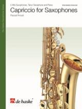 Capriccio for Saxophones Pascal Proust Partition laflutedepan