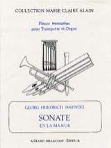 Sonate En la Majeur HAENDEL Partition Trompette - laflutedepan.com