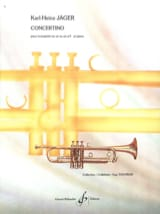 Concertino Karl-Heinz Jäger Partition Trompette - laflutedepan.com
