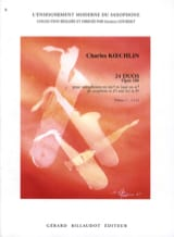 Charles Koechlin - 24 Duos Opus 186 Volume 1 - Partition - di-arezzo.fr