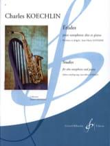 15 Etudes Charles Koechlin Partition Saxophone - laflutedepan.com