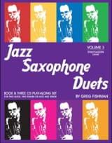 Jazz Saxophone Duets - Volume 3 Greg Fishman Partition laflutedepan