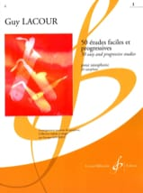 Guy Lacour - 50 Etudes Faciles et Progressives - Volume 1 (étude 1 à 25) - Partition - di-arezzo.fr