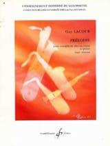 Prélodie - Guy Lacour - Partition - Saxophone - laflutedepan.com