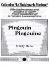 Pingouin Pingouine Freddy Balta Partition Accordéon - laflutedepan.com