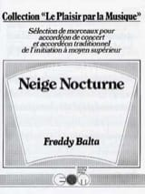 Freddy Balta - Neige Nocturne - Partition - di-arezzo.fr