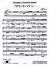 Freddy Balta - Invention N°1 et N°2 - Partition - di-arezzo.fr