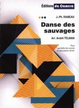 Danse des Sauvages Jean-Philippe Rameau Partition laflutedepan.com