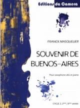 Souvenir de Buenos-Aires Franck Masquelier Partition laflutedepan.com