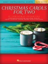Christmas Carols for Two Alto Saxes Noël Partition laflutedepan.com