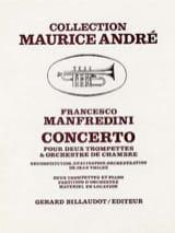 Concerto Francesco Manfredini Partition Trompette - laflutedepan.com