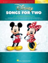 Disney Songs for Two Violins DISNEY Partition laflutedepan.com