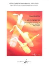 12 Mini-Caprices Gilles Martin Partition Saxophone - laflutedepan.com
