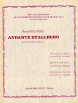 René Mignion - Andante Et Allegro - Partition - di-arezzo.fr