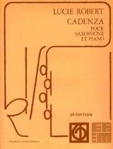 Cadenza Lucie Robert Partition Saxophone - laflutedepan.com