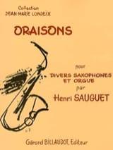 Oraisons Henri Sauguet Partition Saxophone - laflutedepan.com
