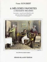 6 Mélodies Favorites Opus 51 SCHUBERT Partition Cor - laflutedepan.com
