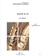 BACH - Suite N ° 3 - Sheet Music - di-arezzo.co.uk