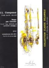 Pezzo Per Claudio Jose Luis Campana Partition laflutedepan.com