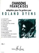 Chansons Françaises Volume 1 Roland Dyens Partition laflutedepan.com
