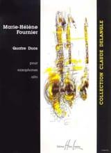 Quatre Duos Marie-Hélène Fournier Partition laflutedepan.com