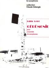 Cérémonie - Edith Lejet - Partition - Saxophone - laflutedepan.com