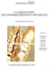 A la Découverte Volume 1 Partition Saxophone - laflutedepan.com