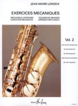 Jean-Marie Londeix - Mechanical Exercises Volume 2 - Sheet Music - di-arezzo.co.uk