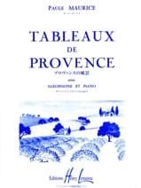 Tableaux de Provence Paule Maurice Partition laflutedepan.com
