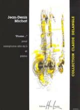 Plume.... Jean-Denis Michat Partition Saxophone - laflutedepan.com