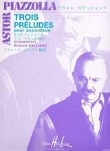 Astor Piazzolla - Trois préludes - Partition - di-arezzo.fr