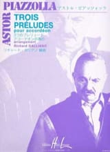 Astor Piazzolla - Three preludes - Sheet Music - di-arezzo.co.uk