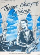 Thèmes Classiques Célèbres Partition Saxophone - laflutedepan.com