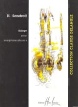 Eulogy Howard Sandroff Partition Saxophone - laflutedepan.com