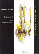 Laberinto 3 David Soley Partition Saxophone - laflutedepan.com