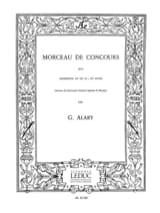Morceau de Concours G. Alary Partition Trompette - laflutedepan.com