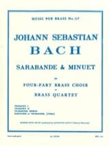 BACH - Sarabande - Minuet - Sheet Music - di-arezzo.com