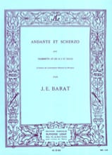 Joseph Eduard Barat - Andante et scherzo - Partition - di-arezzo.fr