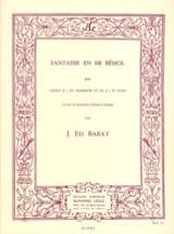 Joseph Eduard Barat - Fantaisie En Mi Bémol - Partition - di-arezzo.fr